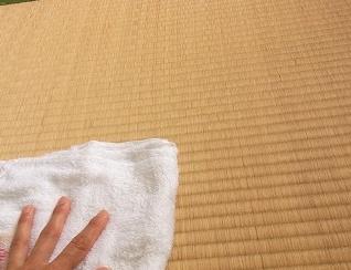 水拭き、畳、酢、汚れ